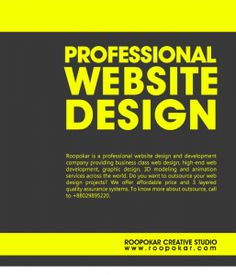 Roopokar is a website design and development company in Bangladesh. As one of the best web design company we have a wide range of services for web solution. We are providing web design, web development, graphic design services. Over the year we have proved ourselves as a best website design and development company through our design competency and web development experience. For more, please visit: http://www.roopokar.com