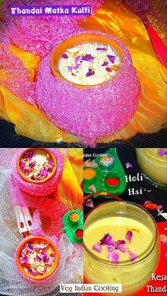 Thandai Matka Kulfi - Holi Special  #kulfi #holirecipes #matkakulfi #indiancuisine #indianrecipes #indianfood #foodblogger #thandai #kulfi #indiandessert #holirecipe #holi #festivalofcolors Indian Desserts, Indian Sweets, Indian Food Recipes, Holi Recipes, Sweets Recipes, Holi Special, Kulfi, Good Food, Indian Recipes