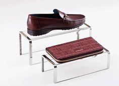 Metal with acrylic Shoe Handbag wallet Display Rack Shoe Stand Handbag digital product Display Stand Bag shoes holder rack