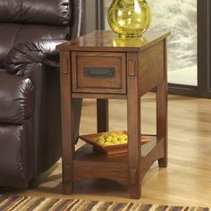 signature design by ashley brown living room chairside end table the price dropped