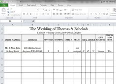 Wedding Guest List Template Free 7 Free Wedding Guest List Templates And  Managers, Sample Wedding Guest List Template 15 Free Documents In Word, ...  Guest List Template For Wedding