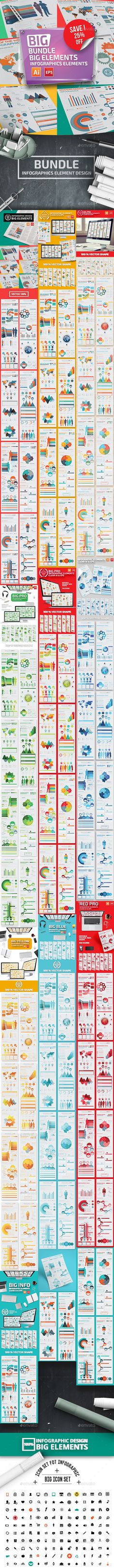 Bundle 10 in 1 Infographics Templates Vector EPS, AI Illustrator