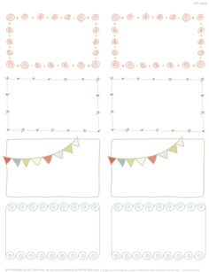 These really cute free printable Doodle Borders for labels are designed by Erin Rippy of InkTreePress. These doodle borders are in fillable and editable PDF templates. Use them as favor labels, shipping labels or even journal notes -:)To print use Worldlabel.com products:WL-600 MultiPurposeWL-675 MultiPurposeWL-775 Universal sizeTIPS: To change fonts: type, size ...