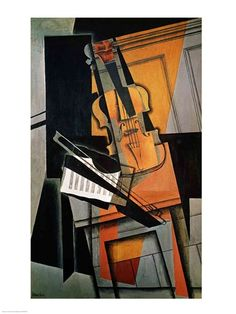The Violin, 1916, Art Print by Juan Gris