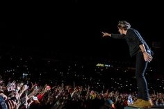 Harry Styles on stage at El Campin Stadium. 4.25.14 Bogota, Colombia
