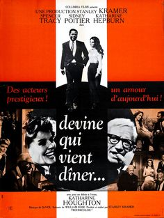 Directed by Stanley Kramer. With Spencer Tracy, Sidney Poitier, Katharine Hepburn, Katharine Houghton. A couple's attitudes are challenged when their daughter introduces them to her African-American fiancé. Rose Music, This Is Us Movie, Spencer, Katharine Hepburn, Film Review, Video Film, Streaming Movies, Design Reference, Movies And Tv Shows