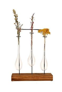 hanging flower vases... for the window sill $20