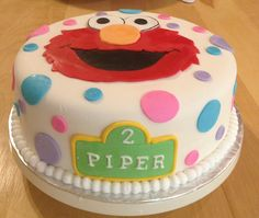 Elmo cake (and love the name on this one) Elmo Birthday, Baby Girl Birthday, First Birthday Parties, First Birthdays, Elmo Cake, Elmo Party, Turning, Boston, Party Ideas