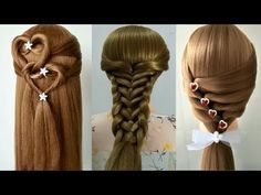 3 Back To School Hairstyles 2017/QUICK & EASY BRAIDS/Peinados rápidos y fáciles para las niñas - YouTube