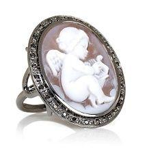 "AMEDEO NYC® Couture 25mm Sardonyx ""Angel"" Cameo Ring"