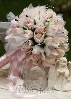 Fantastic Large Pale Pink Silk Cloth Wedding Bouquet for Bride