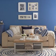 Relaxed country-style living room | Living room paint | housetohome.co.uk