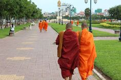 Monks in Phnom Penh, Cambdia