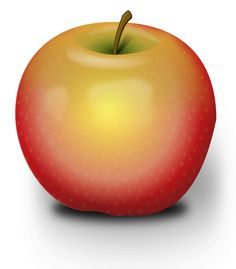 Photorealistic Red Apple by @Peileppe, chrisdesign has made an outstanding apple - there's even a pattern for the pulp with a very light opacity - great work, on @openclipart