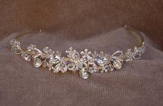 Bridal Handmade Austrian Crystal Headband / Wedding Headpiece / Bridal Tiara / Vintage Inspired