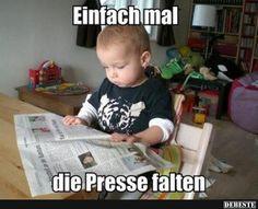 Einfach mal die Presse falten..