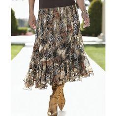 Thanks @Shirlene Van Rij Van Rij Downie for pinning our  Animal Skirt from Midnight Velvet®. www.midnightvelvet.com