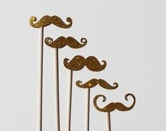 Best Photo Booth Props  Gold Glitter Mustaches by TOASTEDProject, $8.00