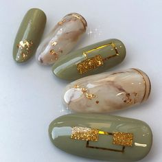 - Best ideas for decoration and makeup - Asian Nail Art, Asian Nails, Japanese Nail Design, Japanese Nail Art, Green Nail Art, Green Nails, Nail Swag, Nail Art Designs Videos, Nail Designs