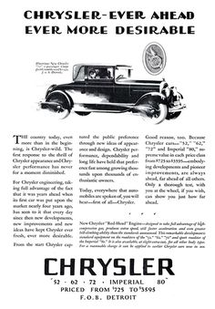"Chrysler ""72"" 2-Passenger Coupe Ad (November, 1927) - Illustrated by Fred Cole"