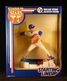 NOLAN RYAN / TEXAS RANGERS 1993 MLB Stadium Stars Starting Lineup Deluxe 6 Inch Figure with Arlington Stadium Display Base