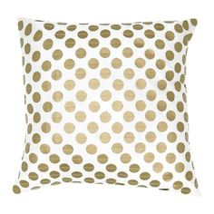 Obsessed with this gold polka dot pillow!
