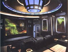 Very cool sci-fi home theater design. #someday #probablynot