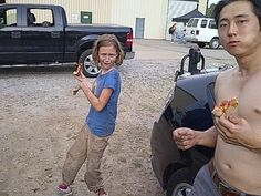the walking dead behind the scenes | Sophia & Glenn