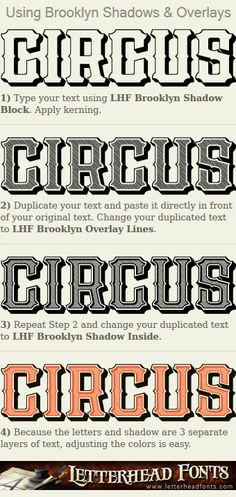 Letterhead Fonts / LHF Brooklyn font set / Late 1800's Fonts