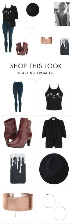 """""""Evie Stilinski"""" by leah-holly-walker ❤ liked on Polyvore featuring Topshop, Walking Cradles and River Island"""