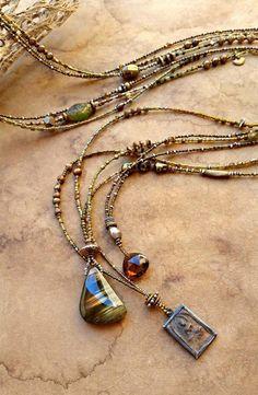 Wire Jewelry, Boho Jewelry, Beaded Jewelry, Jewelery, Jewelry Necklaces, Handmade Jewelry, Jewelry Design, Long Beaded Necklaces, Handmade Necklaces