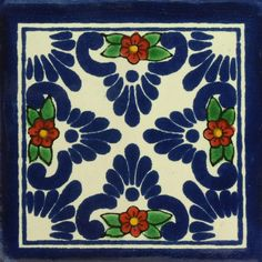 Traditional Mexican Tile - Bella Sombra - Mexican Tile Designs