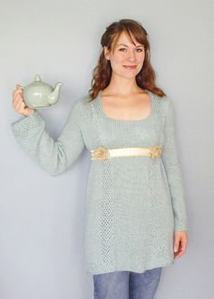 This top is gorgeous and I must have it. Belle epoque, inspired by Edwardian tea gowns. http://knitty.com/ISSUEwinter04/PATTbelleepoque.html