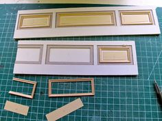 miniature wainscoting. Not sure if this is doable in half scale, will need picture frame. Also makes for a pretty thick build up of molding.