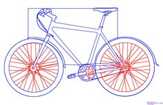 how to draw a bike step 4
