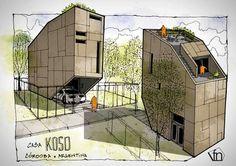 Fer Neyra's sketch for Casa KOSO Córdoba, Argentina