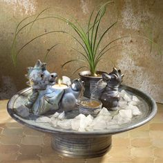 springbrunnen niagara mit led beleuchtung in outdoor zimmerbrunnen gartenbrunnen. Black Bedroom Furniture Sets. Home Design Ideas
