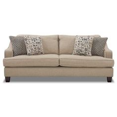 Graphics Khaki Sofa from AFW...$399.  Living room sofa?  Might be a little long though.