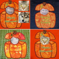 Pumpkin Patch Kids & Pets Applique!  Create your own personalized pumpkin peekers appliques with this 5 file set. Photo fun for the kids & fur babies too!  Full photo instructions show you how!  $6.50