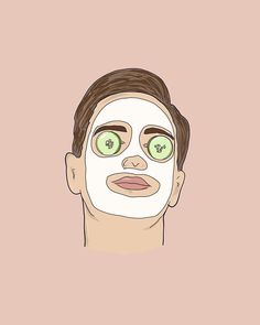 art of a commissioned project because men need spa days too. Body Shop At Home, The Body Shop, Men Spa, Spa Art, Diy Beauty Treatments, Hair Treatments, Beauty Illustration, Skin Care Tools, Illustrators On Instagram
