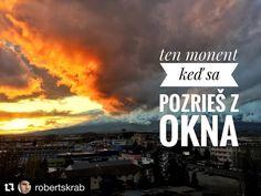 Úžasné...  #praveslovenske od @robertskrab  Pár sekúnd a bolo to preč...  v @mestopoprad #slovakia #slovensko #poprad #tatry #sun #sunset #sunshine #clouds #beautiful #nature