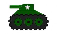 Military Tank Machine Applique Embroidery Design by PrevailDesigns, $3.00