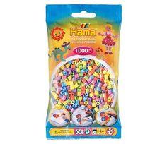 Midi perler i pastell, 1000 stk - Hama   Sprell - veldig fine leker og barneromsinteriør