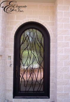Custom wrought iron front door. Decor, Doors, Single Doors, Wrought, Glass, Iron Front Door, Home Decor, Mirror, Glass Door