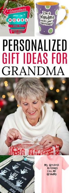Find the perfect gifts for Grandma! We have 25 gift ideas for Grandma. 25 personalized gifts for Grandma she will love. Find presents for Grandma! Diy Gifts For Grandma, Presents For Grandma, Christmas Gifts For Grandma, Best Gifts For Mom, Presents For Boyfriend, Homemade Christmas Gifts, Christmas Gifts For Women, Gifts For Kids, Christmas Ideas