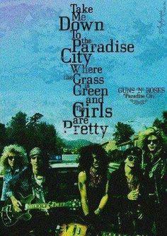 ➳➳➳☮American Hippie Music - Lyrics .. Guns n Roses - Paradise City