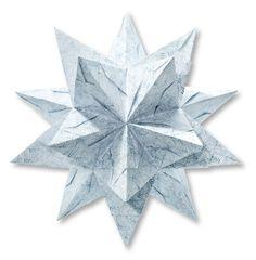 Neue Bascetta-Sterne mit anspruchsvoller Origami-Technik für wundervolle Weihnachtsdekoration. Mehr unter http://www.folia.de/epaper/folia_neuheitenkatalog_2016_2/catalog_7779151/#/12