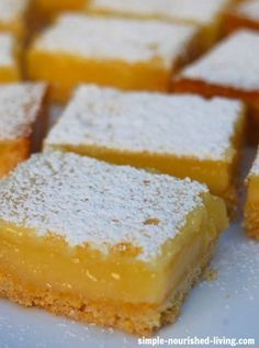 Light, Luscious and Refreshing, these Weight Watchers Low Fat Lemon Bars are a keeper with just 113 calories + 3 WWPP! http://simple-nourished-living.com/2015/03/weight-watchers-low-fat-lemon-bars/ They are by Go-To recipe for homemade lemon bars from now on.