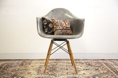 old new house rare eames swivel chair in grey.