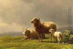 Sheep Oil Paintings | ... to order a handmade oil painting reproduction of this painting artist